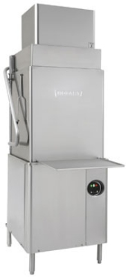 Hobart's ventless dishwashers are available in both front-load and door-type models.